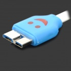 LED Smile Face Flat Micro USB 9-Pin to USB 3.0 Charging Data Cable for Samsung Galaxy Note 3 N9000
