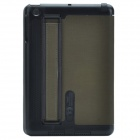 Stylish 2-Fold Protective PU Leather Case Cover Stand for Retina Ipad MINI - Blackish Green + Black