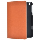 Stylish Protective PU Leather Case Cover Stand for Retina iPad Mini - Orange