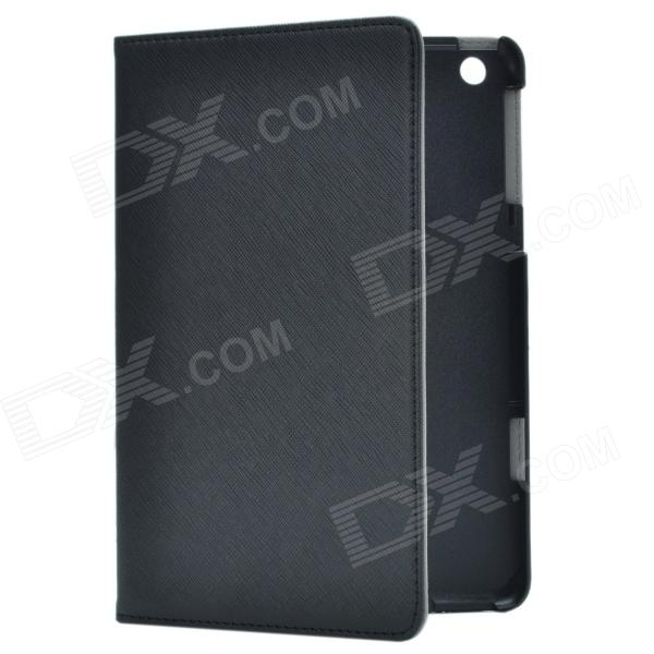 Stylish Protective PU Leather Case Cover Stand for Retina Ipad MINI - Black