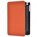 Stylish 2-Fold Protective PU Leather Case Cover Stand for Retina Ipad MINI - Deep Grey + Orange