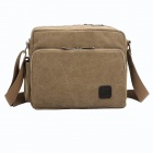 ManJiangHong Fashionable Men's Canvas Shoulder Bag - Khaki