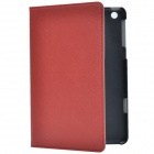 Stylish Protective PU Leather Case Cover Stand for Retina Ipad MINI - Wine Red