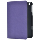 Stylish Protective PU Leather Case Cover Stand for Retina Ipad MINI - Purple