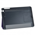 Stylish Protective PU Leather Case Cover Stand para Retina Ipad MINI - Preto + Roxo
