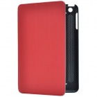 Stylish Protective PU Leather Case Cover Stand for Retina iPad Mini - Black + Red