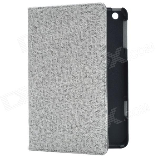 Stylish Protective PU Leather Case Cover Stand for Retina Ipad MINI - Silver Grey