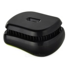 Magic Healthy Hair Care Resin Massage Comb - Black + Green
