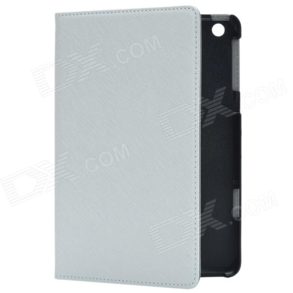 Stylish Protective PU Leather Case Cover Stand for Retina Ipad MINI - White