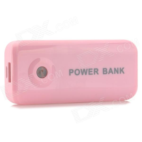 Portable External 5600mAh Power Bank + USB Charging Data Cable for LG Nexus 5 - Pink (Cable-90cm) portable 6000mah power bank w flashlight for mobile tablet pc more pink white