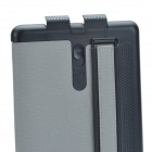 Stylish Protective PU Leather Case Cover Stand w/ Hand Strap for Retina Ipad MINI - Black + Grey