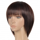 HM Short Straight Hair Wig w/ Bangs for Women - Brown