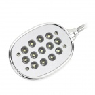 High Brightness USB Powered 13-LED White Touch Reading Light - White + Silver