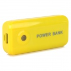 "Portable ""5600mAh"" Power Bank + USB Charging Data Cable for LG Nexus 5 - Yellow"
