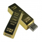 Ourspop U339 aço inoxidável Gold Bar USB 2.0 Flash Drive Vara - Golden (16GB)