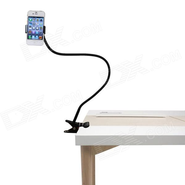 Brilink ST02 360 Degrees Rotation Desk / Bed Handsfree Flexible Neck Clip Holder for Phone - Black
