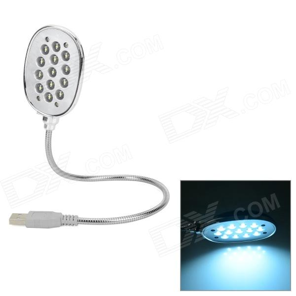 High Brightness USB Powered 13-LED White Touch Reading Light - Black + Silver