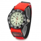M013G Woman's Stylish Double-layer Velcro Tape Analog Quartz Wristwatch - Black + Red (1 x SR626SW)