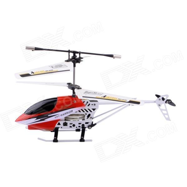 6689-2 Mini SKYHAWK 3-Channel IR Remote Control Helicopter - Red + Black + Silver v108 ir remote receive module 2 key remote controller black silver
