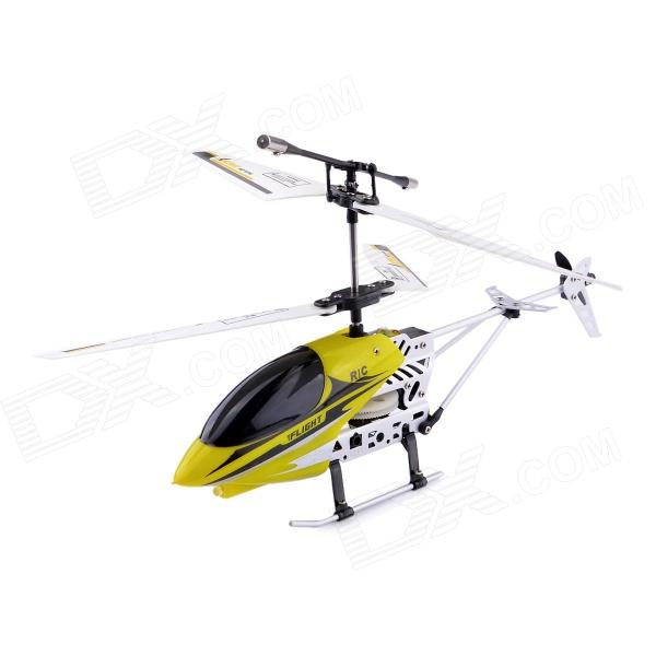 6689-2 Mini SKYHAWK 3-Channel IR Remote Control Helicopter - Yellow + Black + Silver 3pcs lithium battery and european regulators with 1 care 3 conversion cable for syma x8sw x8sc remote control helicopter battery
