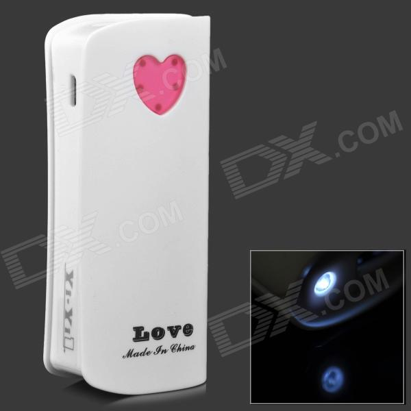 Love Heart Pattern External 5600mAh Power Bank for Samsung Galaxy Ace 3 / S7272 - White чехол для для мобильных телефонов capa celular samsung galaxy ace 3 iii s7272 s7270 s7275 phone case for samsung galaxy ace 3 iii s7272