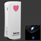 "Love Heart Pattern External ""5600mAh"" Power Bank for Samsung Galaxy Ace 3 / S7272 - White"