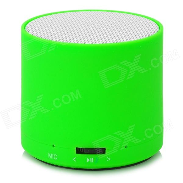 Cylinder Style Portable Bluetooth v3.0 Speaker for Iphone - White + Green mymei best price new portable 3 5mm pillow speaker for mp3 mp4 cd ipod phone white
