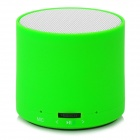 Cylinder Style Portable Bluetooth v3.0 Speaker for Iphone - White + Green