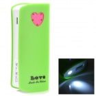 "Love Heart Style ""5600mAh"" Power Bank w/ USB Data/Charging Cable for Samsung Galaxy S3 / S4 + More"