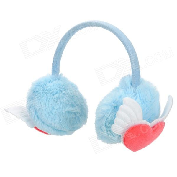 k99 Cute Fluffy Plush Warm Earmuff - Blue + Red