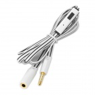 3.5mm Male to Female Audio Extender Cable w/ Microphone - Black + White