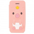 Cute Crown Pig Style Protective Silicone Case for Iphone 5 / 5s - Pink