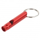Creeper Outdoor Aluminum Alloy Survival Whistle - Tomato Red