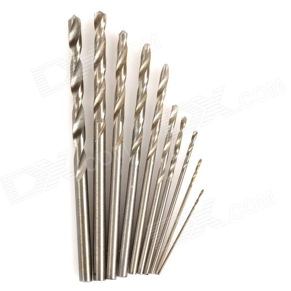 WLXY WL-0530 0.5-3.0mm High-Speed Steel Drill Bit Set - Silver (10 PCS) wlxy wl 1301 high peed steel drills set 13 pcs page 10