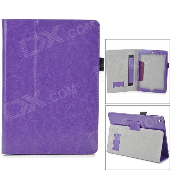Protective Flip Open PU Case w/ Handle Strap for Ipad AIR - Deep Purple deep purple deep purple stormbringer 35th anniversary edition cd dvd