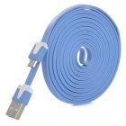 USB to Micro USB Data Charging Flat Cable for Amazon Kindle Touch, Kindle 3, Kindle 4 - Blue + White