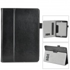 Protective Flip Open PU Case w/ Stand / Handle Strap for Ipad AIR - Black
