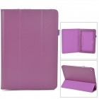 Lychee Grain Style Protective PU Leather Case for Acer Iconia A3 - Purple