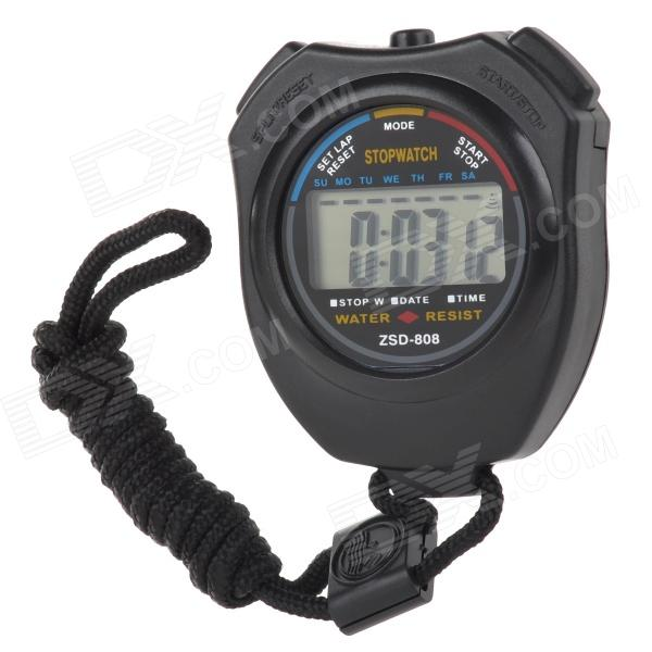 ZSD-808 Running Timing Stopwatch - Black (1 x AG13)