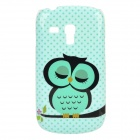 Cute Owl Style Protective Plastic Back Case for Samsung Galaxy S3 Mini i8190 - Green