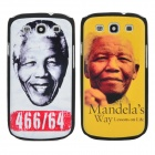 Nelson Mandela Protective PC Back Case for Samsung Galaxy S3 i9300 - White + Yellow (2 PCS)