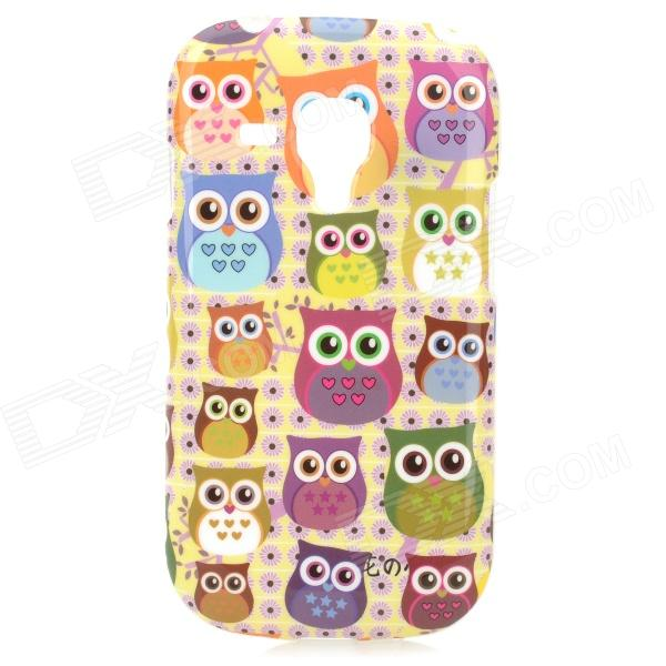 Cartoon Owl Style Protective TPU Back Case for Samsung Galaxy S3 Mini i8190 - Multicolor stylish protective back case for samsung i8190 galaxy s3 mini yellow translucent