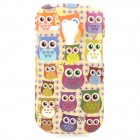 Cartoon Owl Style Protective TPU Back Case for Samsung Galaxy S3 Mini i8190 - Multicolor