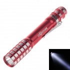 SKYWOLFEYE 722 80lm 6000K White Light Mini Flashlight - Red (2 x AA)