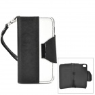 Stylish Protective PU Leather + Plastic Case for Iphone 4 / 4s - White + Black