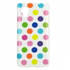 Polka Dot Style Protective Silicone Back Case for LG Nexus 5 - White + Multicolor