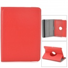 "Lychee Grain Style Protective 360 Degree Rotation PU Leather Case for Amazon Kindle Fire HD 7"" - Red"