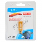 Portable Revolving Keyring Aluminum Alloy USB 2.0 Flash Drive - Golden (16 GB)