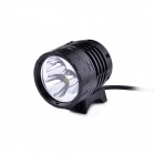 MarsFire M09 3-LED 4-Mode 2000LM White Bike Light / Headlamp - Black (4 x 18650)
