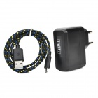 IKKI AC Charging Adapter Charger w/ USB Data/Charging Cable for Amazon Kindle - Black